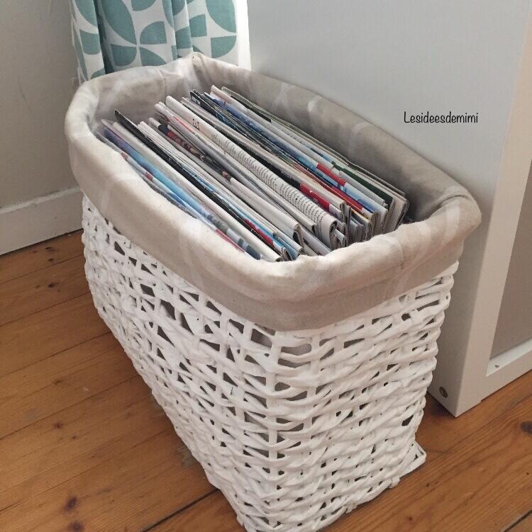 comment fabriquer un panier en papier journal les id es. Black Bedroom Furniture Sets. Home Design Ideas